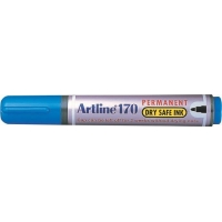 Permanent marker ARTLINE 170 - Dry safe ink, corp plastic, varf rotund 2.0mm - albastru