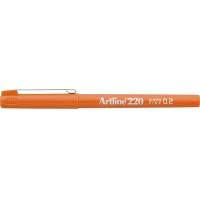 Liner ARTLINE 220, varf fetru 0.2mm - orange