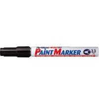 Marker cu vopsea varf rotund 2.3mm, corp metalic, ARTLINE 400XF - negru