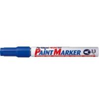 Marker cu vopsea varf rotund 2.3mm, corp metalic, ARTLINE 400XF - albastru