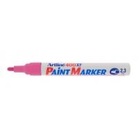 Marker cu vopsea varf rotund 2.3mm, corp metalic, ARTLINE 400XF - roz