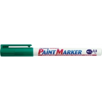 Marker cu vopsea ARTLINE 444XF, corp metalic, varf rotund 0.8mm - verde