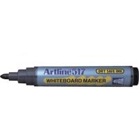 Whiteboard marker varf rotund, 2.0mm, corp plastic, ARTLINE 517 - rosu