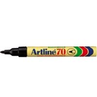 Permanent marker varf rotund, 1.5mm, corp metalic, ARTLINE 70 - negru