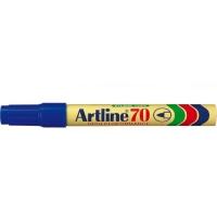Permanent marker varf rotund, 1.5mm, corp metalic, ARTLINE 70 - albastru