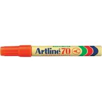 Permanent marker ARTLINE 70, corp metalic, varf rotund 1.5mm - portocaliu