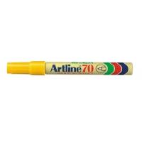 Permanent marker varf rotund, 1.5mm, corp metalic, ARTLINE 70 - galben