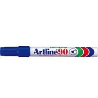 Permanent marker varf tesit, 2,0-5,0mm, corp metalic, ARTLINE 90 - albastru