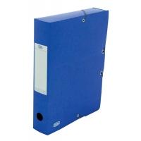 Mapa carton 600g/mp, cu elastic, 60mm latime, ELBA Eurofolio - albastru