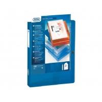 Mapa din plastic cu capsa , cu buzunar de prezentare, , 40mm latime, ELBA Image+ - transp. albastru