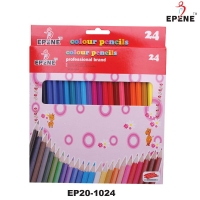 Creioane colorate, corp hexagonal, 24 culori/set, EPENE