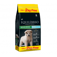 Equilibrio Medium Puppy, 12 + 2 kg Gratuit