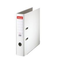 Biblioraft A4, plastifiat PP, margine metalica, 75 mm, ESSELTE Economy - alb