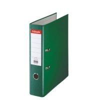 Biblioraft A4, plastifiat PP, margine metalica, 75 mm, ESSELTE Economy - verde