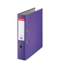 Biblioraft A4, plastifiat PP, margine metalica, 75 mm, ESSELTE Economy - mov