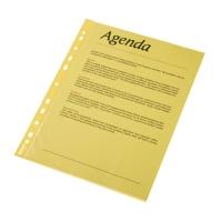 Folie protectie color pentru documente,  10folii/set, ESSELTE -  galben transparent