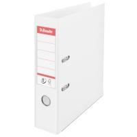 Biblioraft A4, plastifiat PP/PP, margine metalica, 75 mm, ESSELTE No. 1 Power - alb