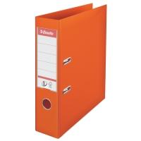Biblioraft A4, plastifiat PP/PP, margine metalica, 75 mm, ESSELTE No. 1 Power - portocaliu