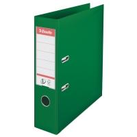 Biblioraft A4, plastifiat PP/PP, margine metalica, 75 mm, ESSELTE No. 1 Power - verde