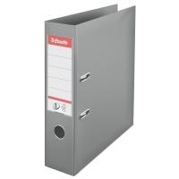 Biblioraft A4, plastifiat PP/PP, margine metalica, 75 mm, ESSELTE No. 1 Power - gri