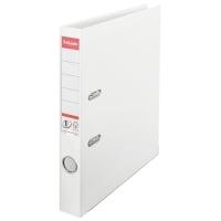Biblioraft A4, plastifiat PP/PP, margine metalica, 50 mm, ESSELTE No. 1 Power - alb
