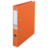 Biblioraft A4, plastifiat PP/PP, margine metalica, 50 mm, ESSELTE No. 1 Power - portocaliu