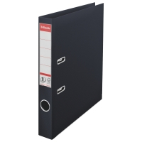 Biblioraft A4, plastifiat PP/PP, margine metalica, 50 mm, ESSELTE No. 1 Power - negru