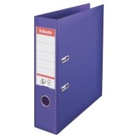 Biblioraft A4, plastifiat PP/PP, margine metalica, 75 mm, ESSELTE No. 1 Power - mov