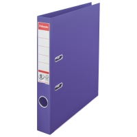 Biblioraft A4, plastifiat PP/PP, margine metalica, 50 mm, ESSELTE No. 1 Power - mov