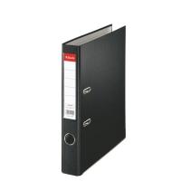 Biblioraft A4, plastifiat PP, margine metalica, 50 mm, ESSELTE Economy - negru
