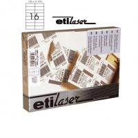 Etichete autoadezive  16/A4, 105 x 37 mm, 200 coli/top, ETILASER - albe