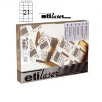 Etichete autoadezive  21/A4, 70 x 42,3 mm, 200 coli/top, ETILASER - albe