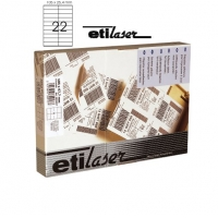 Etichete autoadezive  22/A4, 105 x 25,4 mm, 200 coli/top, ETILASER - albe