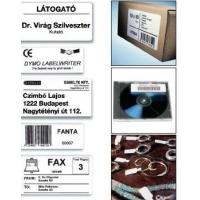 Etichete dymo  hartie alba (89 x 36 mm) 260 buc/rola, 2 role/cutie