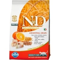 N&D Low Grain Cat, Cod si Portocale, 5 kg
