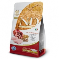 N&D Low Grain Cat Neutered, Pui si Rodie, 5 kg