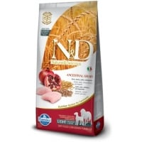 N&D Low Grain Adult Light Mini&Medium, Pui si Rodie, 2.5 kg
