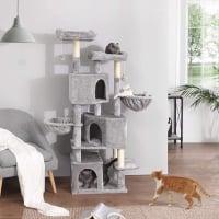 Feandrea Ansamblu de Joaca Pisici Cave XXL Gri, 164 cm