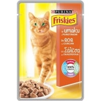 FRISKIES CAT ADULT, CURCAN IN SOS, 85 G