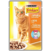 Friskies Cat Adult Pui in sos, 100 g