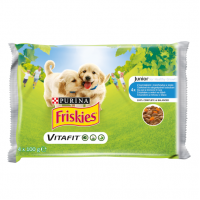 Friskies Dog Junior Multipack, 4 x 100 g