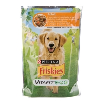 Friskies Dog Pui si Morcovi, 100 g