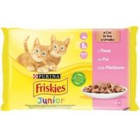 Plic Friskies Junior Pui, 4 x 100 g