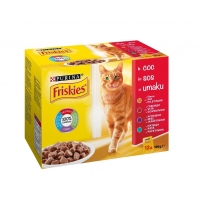 Friskies Multipack Pui, Vita, Miel, Rata 12 x 100 g
