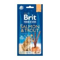 BRIT Premium By Nature, recompense fără cereale pisici, batoane, Somon și Păstrăv, 3buc