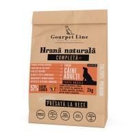GOURPET LINE, Somon, pachet economic hrană uscată presată la rece fără cereale câini, 2kg x 2