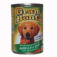 Conserva pentru Caini Gran Bonta cu Miel si Orez 1.2 kg