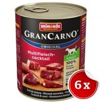 Pachet Conserve Grancarno Adult Cocktail Carne 6x800 g