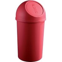 Cos plastic cu capac, pentru reziduuri, 25 litri, HELIT - rosu