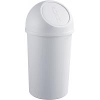 Cos plastic cu capac, pentru reziduuri, 25 litri, HELIT - gri deschis